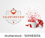 happy valentines day greeting... | Shutterstock .eps vector #569483056