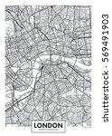 vector poster map city london | Shutterstock .eps vector #569491903