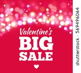 valentines day sale offer.... | Shutterstock .eps vector #569496064