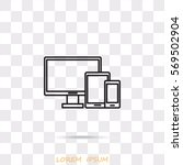 line icon   devices | Shutterstock .eps vector #569502904