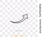 line icon   arrow | Shutterstock .eps vector #569504896