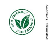 Eco Friendly Stamp Sign Vector...