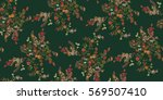 seamless floral pattern in... | Shutterstock .eps vector #569507410