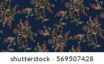 seamless floral pattern in... | Shutterstock .eps vector #569507428
