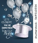 party invitation card with... | Shutterstock .eps vector #569510554