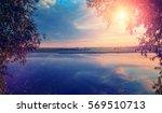 Wonderful Sunset Over The Lake...