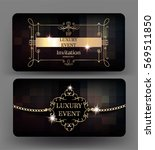 luxury event cards with vintage ... | Shutterstock .eps vector #569511850