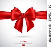 Realistic Red Bow And Ribbon....