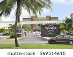 Small photo of Cancun, Mexico - 4 January 2017: Hard Rock Hotel - luxury resort on Mayan Riviera, Yucatan Peninsula