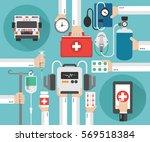 healthcare ambulance online...   Shutterstock .eps vector #569518384