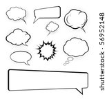 speech bubbles set | Shutterstock .eps vector #56952148