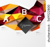 colorful triangle mosaic 3d... | Shutterstock .eps vector #569522800