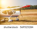 a small private plane with... | Shutterstock . vector #569525284