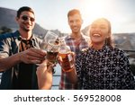 young friends partying together.... | Shutterstock . vector #569528008
