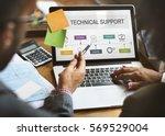 contact us help business... | Shutterstock . vector #569529004