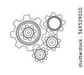 monochrome contour with set... | Shutterstock .eps vector #569529010