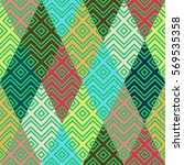 geometric rainbow seamless... | Shutterstock .eps vector #569535358