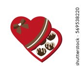 chocolate candies. a heart....