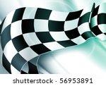 background horizontal checkered ... | Shutterstock .eps vector #56953891