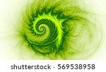 Space Snail. Spiral Galaxy. 3d...