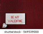 valentine day paper heart shape | Shutterstock . vector #569539000