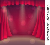 little red theater. theater... | Shutterstock .eps vector #569543854