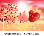 valentines. valentines day.... | Shutterstock .eps vector #569548108