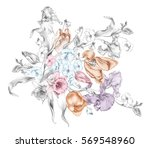 the illustration of beautiful... | Shutterstock . vector #569548960
