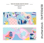 set of abstract creative... | Shutterstock .eps vector #569550658