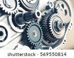 engine gears wheels  closeup... | Shutterstock . vector #569550814