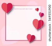 romantic poster frame... | Shutterstock .eps vector #569551900