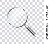 search icon on transparent... | Shutterstock .eps vector #569552104