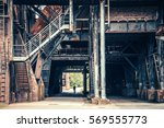 old rusty industry in duisburg  ... | Shutterstock . vector #569555773