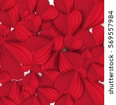 cut paper red valentine hearts... | Shutterstock .eps vector #569557984