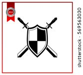 sword and shield icon | Shutterstock .eps vector #569563030