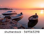Three Motor Fishing Boats At...
