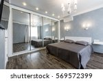 contemporary bedroom design in... | Shutterstock . vector #569572399