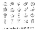 Sketchy Food Icon Collection ...