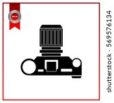 photo camera top view  vector | Shutterstock .eps vector #569576134