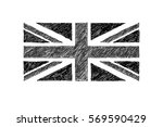 hand drawn black and white... | Shutterstock .eps vector #569590429