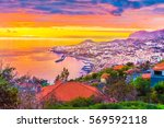 panoramic view over funchal