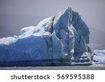 blue ice glaciers of glacier... | Shutterstock . vector #569595388