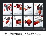 business vector template mega... | Shutterstock .eps vector #569597380