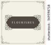 royal logo design template... | Shutterstock .eps vector #569598718