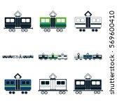 train icons set | Shutterstock .eps vector #569600410