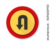 u turn sign illustration | Shutterstock . vector #569600950