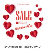 sale discount poster for... | Shutterstock .eps vector #569604940
