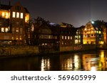 motives of the old town... | Shutterstock . vector #569605999
