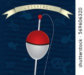 float with fishing line vector... | Shutterstock .eps vector #569606320