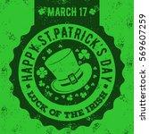 Happy St.patrick\'s Day. Grunge...
